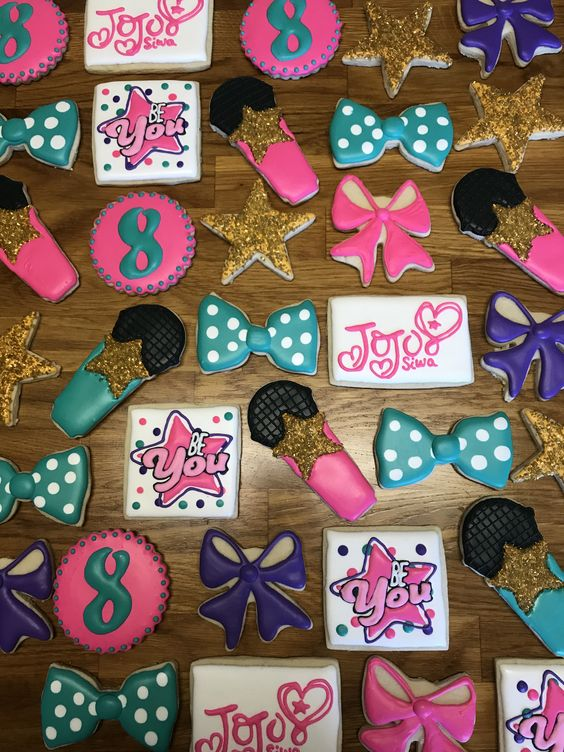Jo Jo Siwa Party Cookies - Jo Jo Siwa Birthday Party Ideas