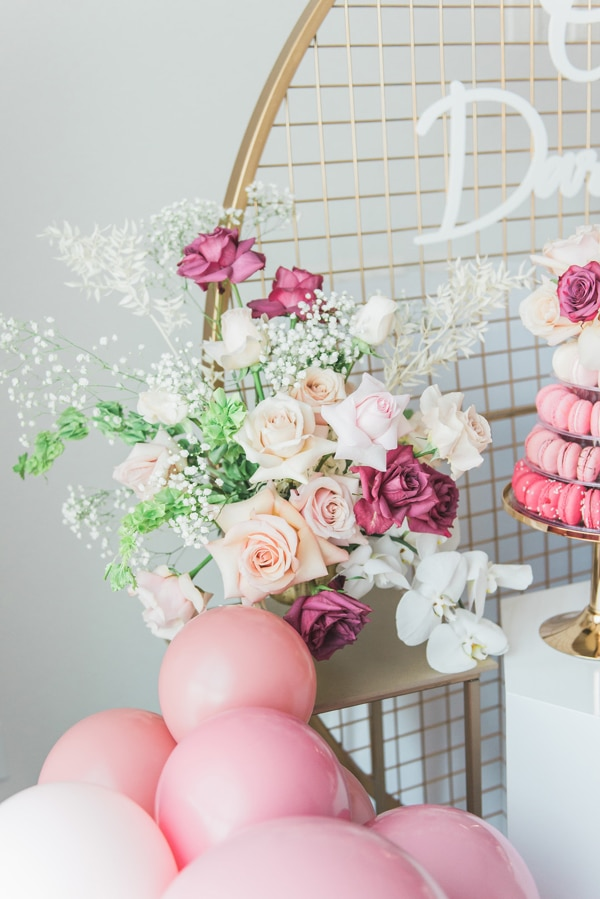 Pretty Pink and Gold 1st Birthday Party Decorations on Pretty My Party