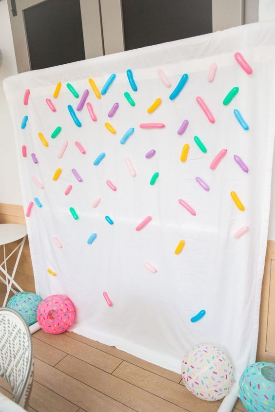 Sprinkles Photo Booth Backdrop for Baby Sprinkle - Best Baby Sprinkle Ideas