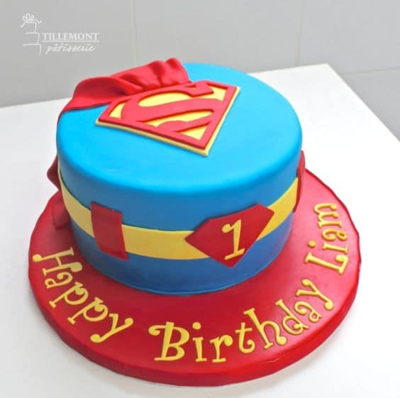 Superman Cake 0- Superman Birthday Party Ideas