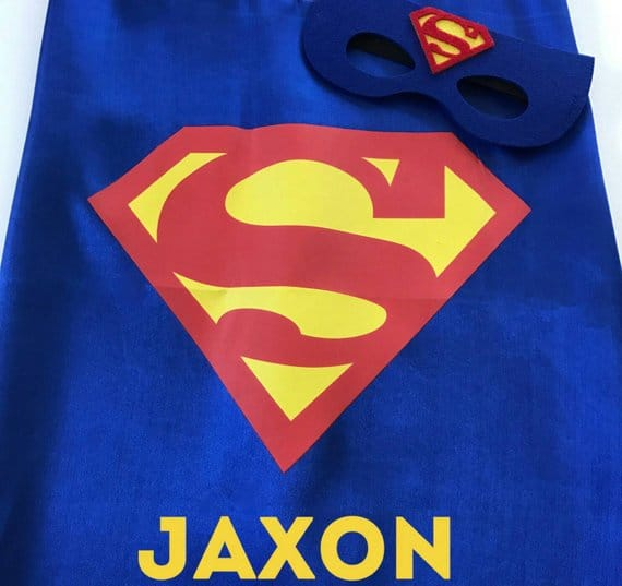 Personalized Superman Cape - Superman Party Ideas