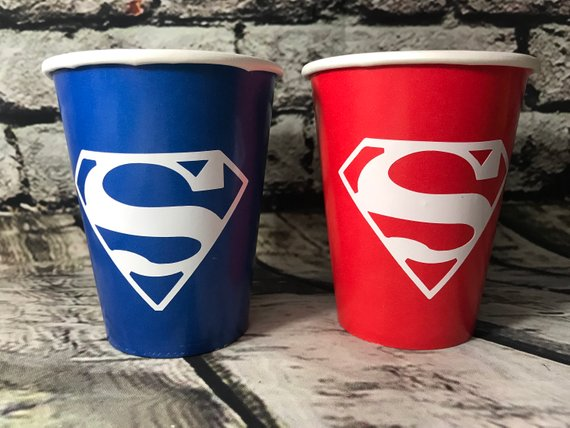 Superman Party Cups - Superman Party Ideas