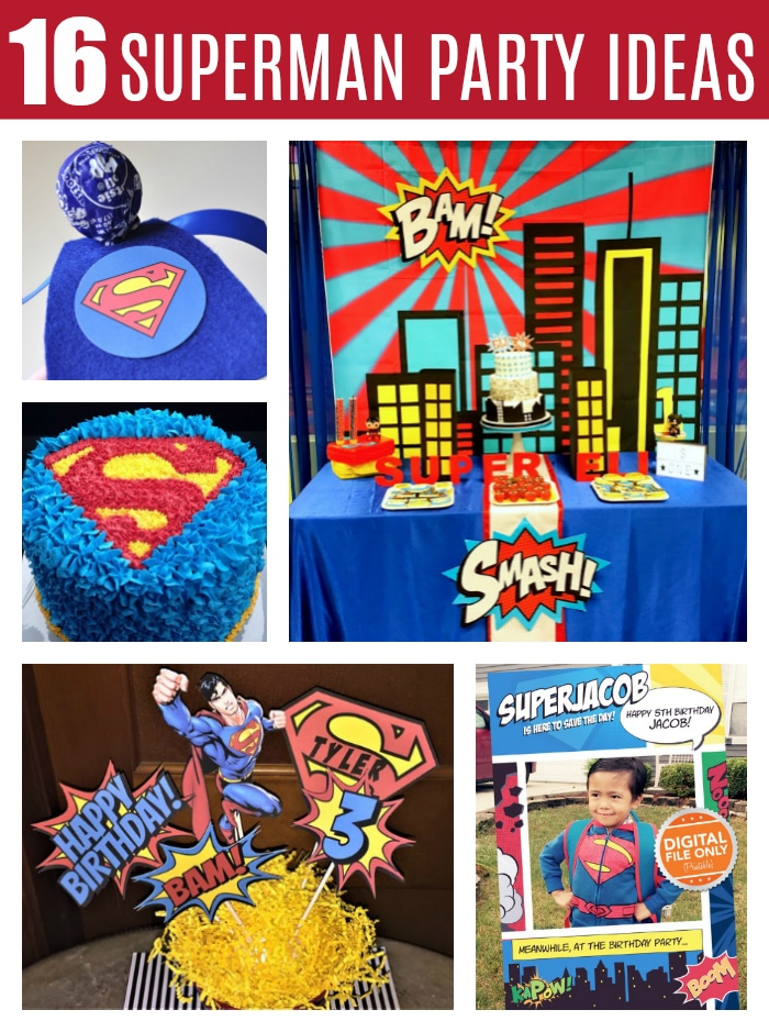 16 Cool Superman Party Ideas on Pretty My Party