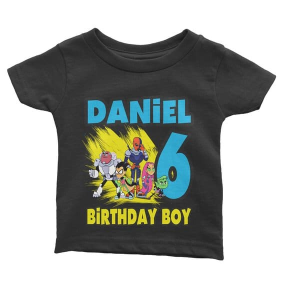 Teen Titans Go Birthday Shirt - Teen Titans Party Ideas