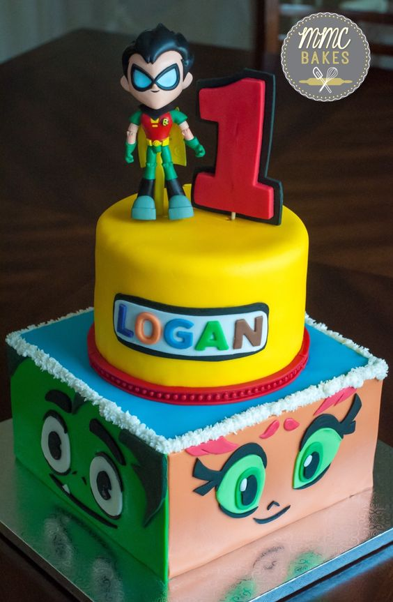 Teen Titans Go Birthday Cake - Teen Titans Go Party Ideas