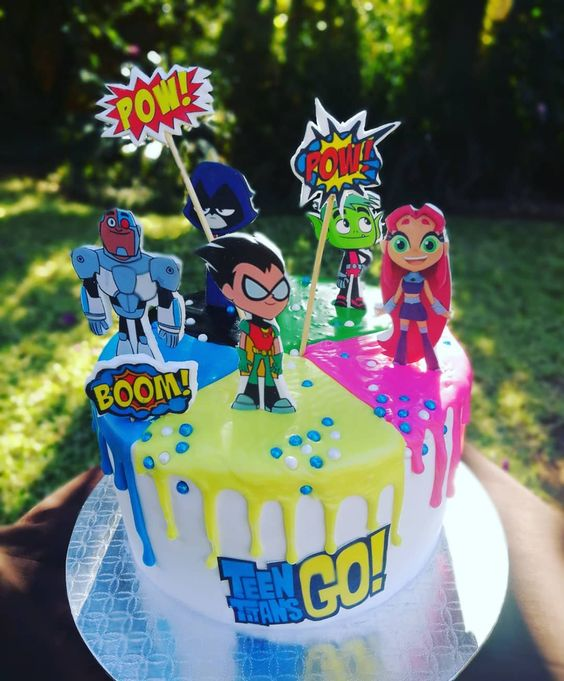 Teen Titans Go Cake - Teen Titans Go Party Ideas