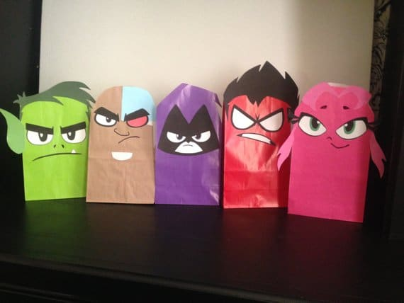 Teen Titans Go Favor Bags - Teen Titans Go Party Ideas