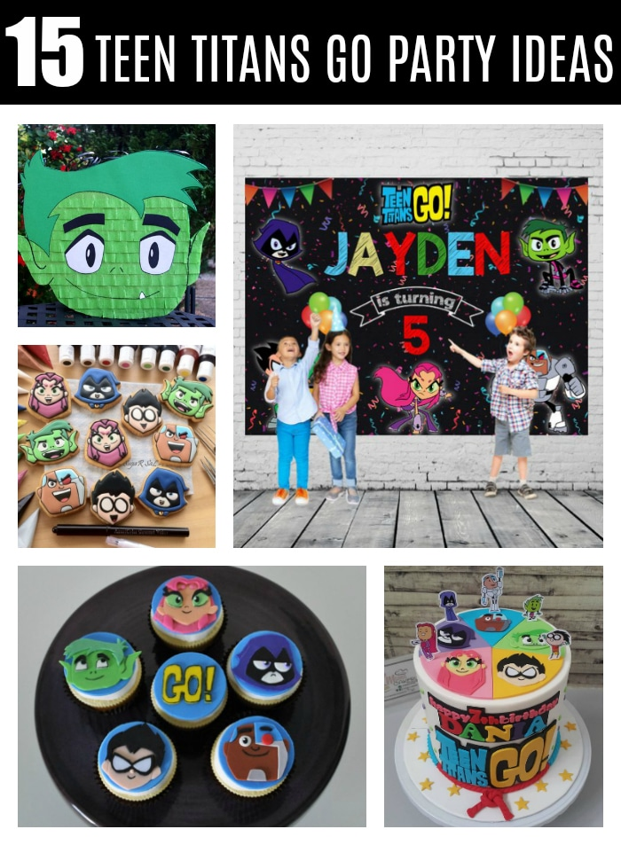 15 Awesome Teen Titans Go Birthday Party Ideas on Pretty My Party