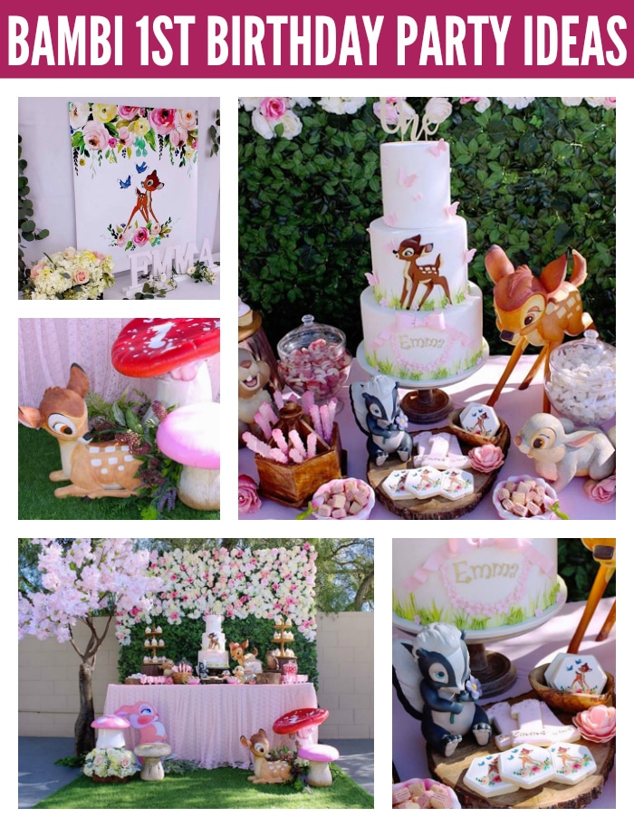 Gorgeous Bambi 1st Birthday Party on Pretty My Party
