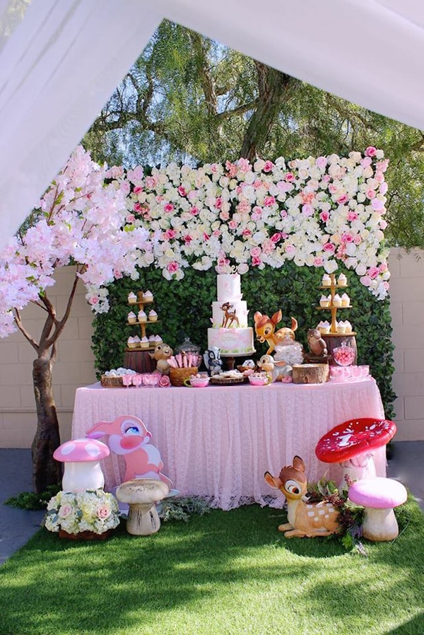 Bambi Party Dessert Table on Pretty My Party