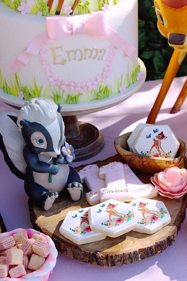 Bambi Cookies - Bambi 1st Birthday Party Ideas