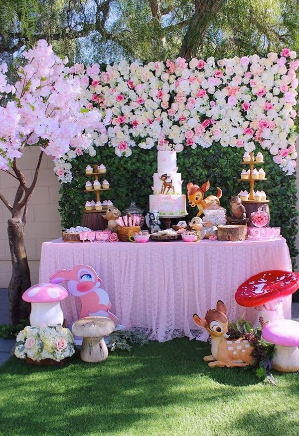 Gorgeous Bambi Themed 1st Birthday Party on Pretty My Party