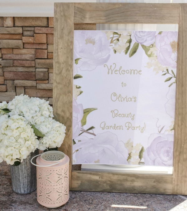 Beauty Boutique Party Welcome SIgn