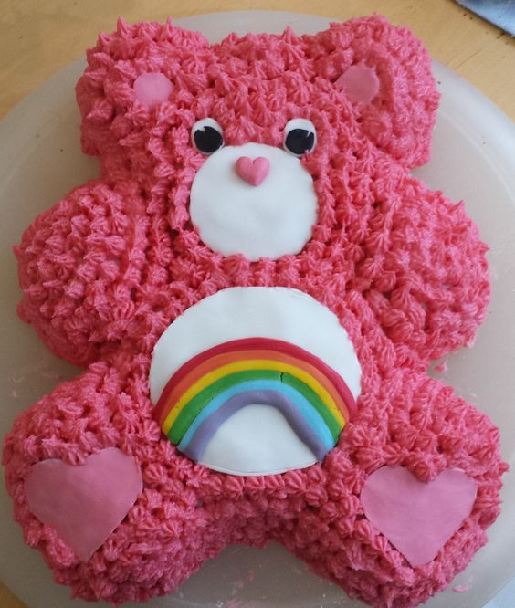 Care Bear Cake - Care Bear Ideas