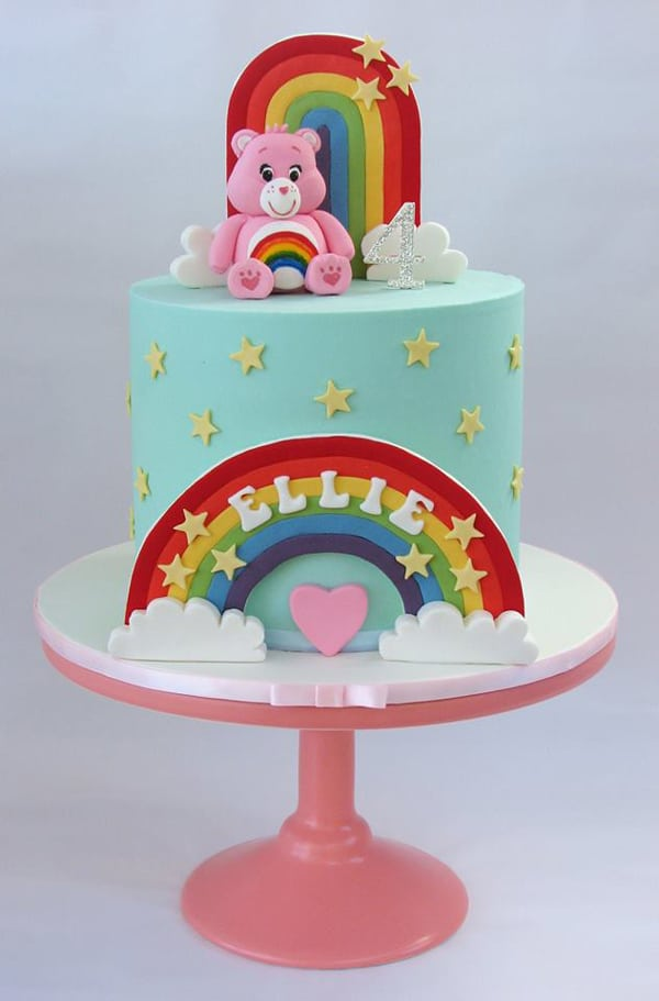 Care Bears Birthday Cake - Care Bears Party Ideas