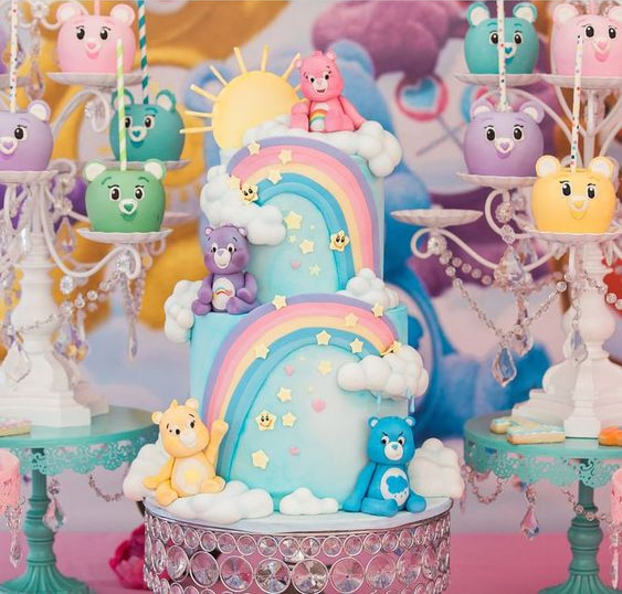 Care Bears Birthday Cake and Desserts - Care Bears Party Ideas