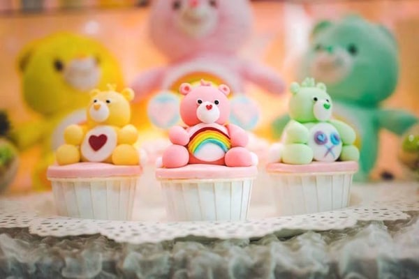 Care Bears Cupcakes - Care Bears Party Ideas