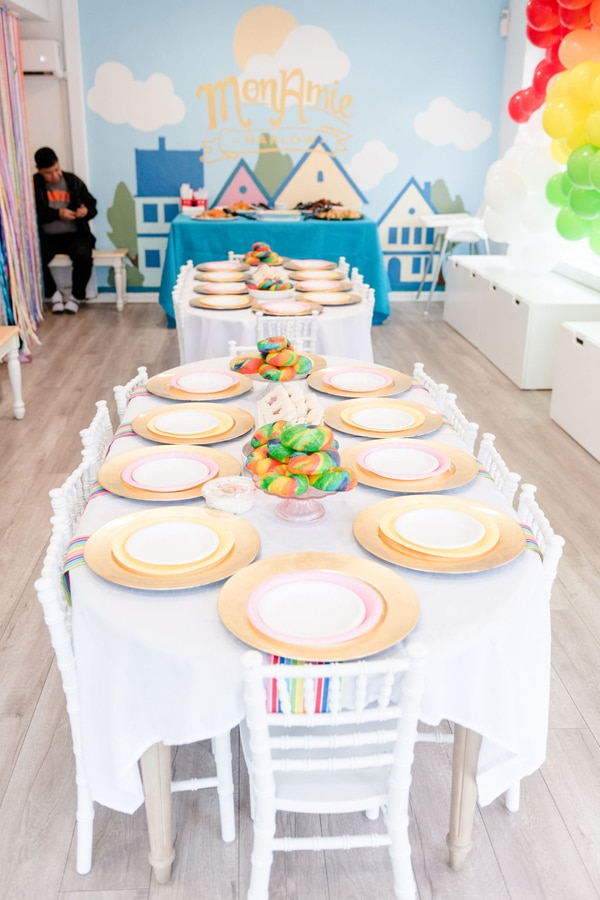 Rainbow Color Factory Themed Birthday Party on Pretty My Party