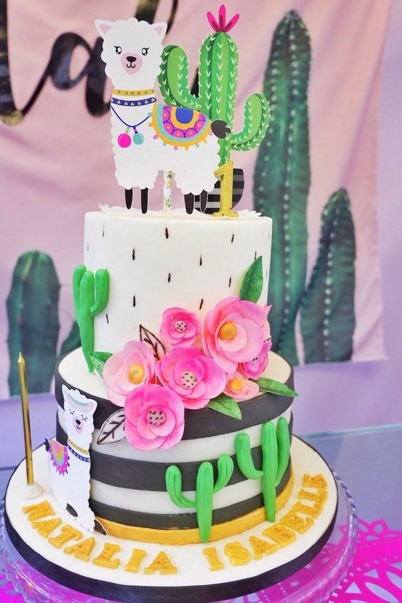 Llama Birthday Cake - Llama Birthday Party Ideas