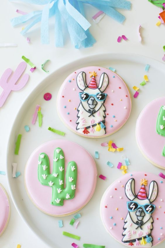 Llama Cookies - Llama Party Ideas