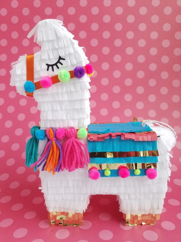 Llama Party Centerpiece - Llama Birthday Party Ideas