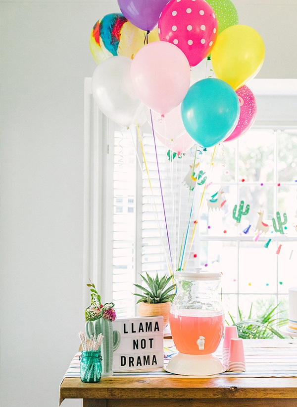 Llama Not Drama Party Sign - Llama Party Ideas