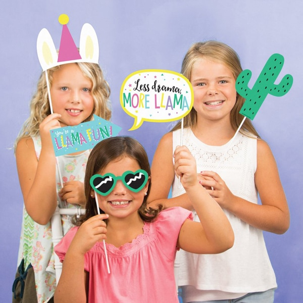 Llama Party Photo Booth Props - Llama Birthday Party Ideas
