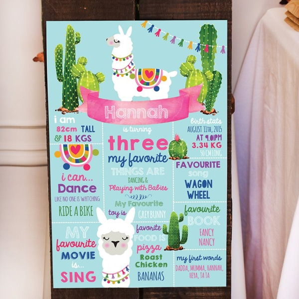 Llama Party Poster - Llama Themed Party Ideas