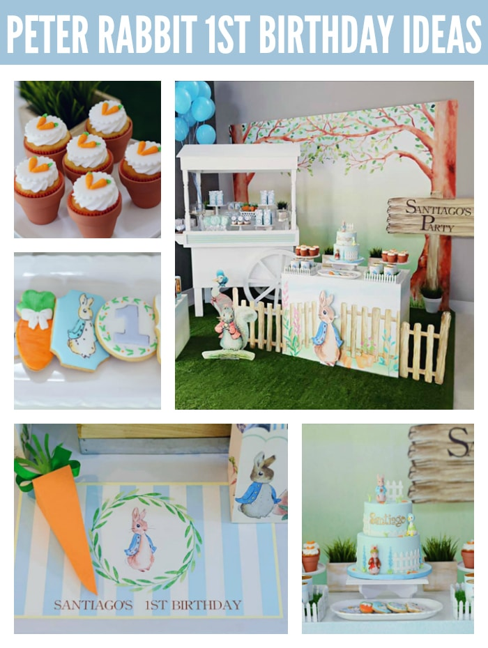 Adorable Peter Rabbit 1st Birthday Party Pretty My Party