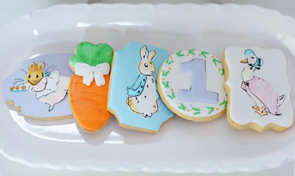 Peter Rabbit Birthday Cookies on Pretty My Party