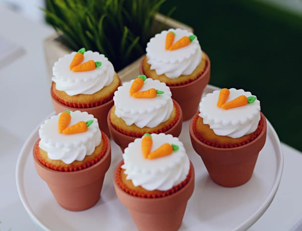 Peter Rabbit Carrot Cupcakes on Pretty My Party