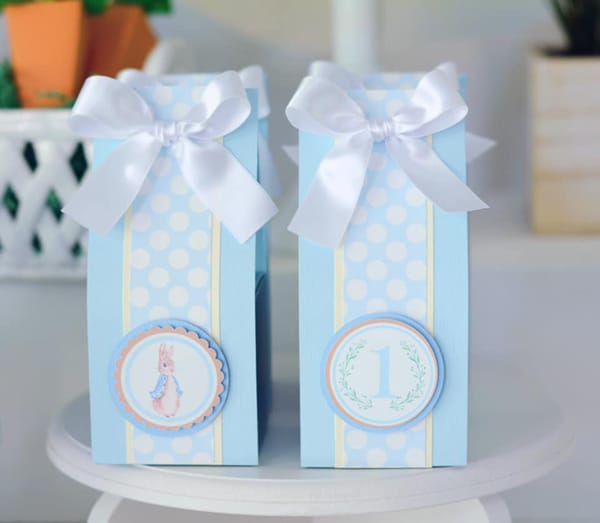 Peter Rabbit Party Favor Bags on Pretty My Party