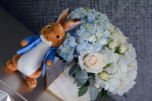 Peter Rabbit Party Centerpiece on Pretty My Party