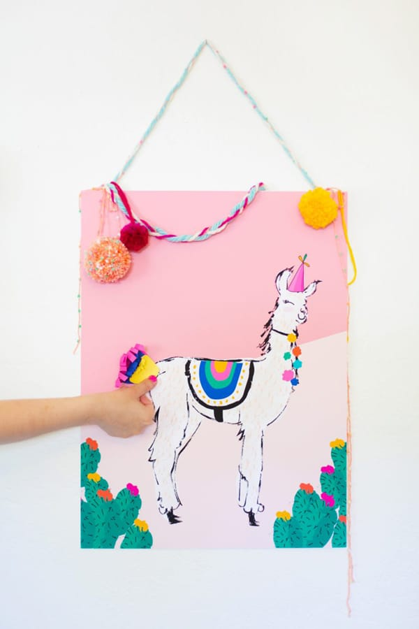 Pin the Tail on the Llama Party Game - Llama Party Ideas