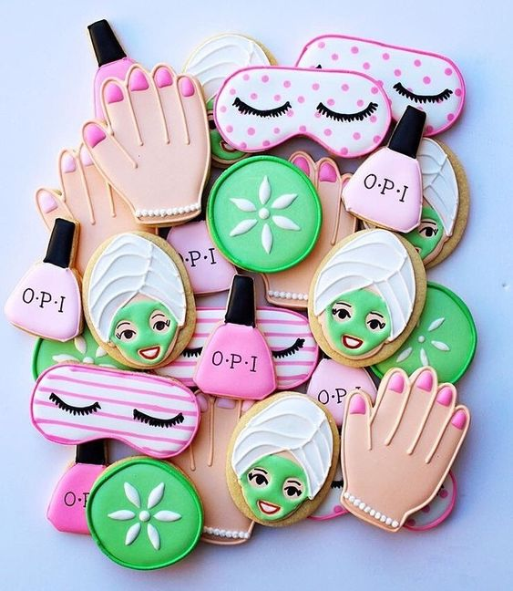 Spa Party Cookies - Spa Party Ideas