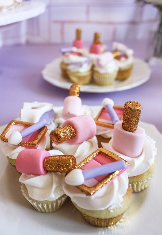 Spa Party Cupcakes - Spa Party Ideas