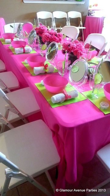 Spa Party Table Idea - Spa Party Ideas