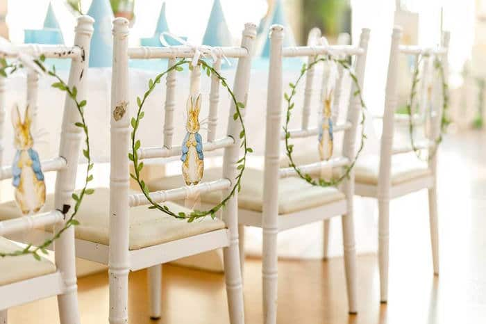 Peter Rabbit Party Chair Decorations