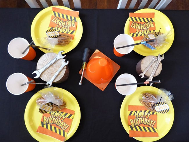Construction Birthday Party Table Decorations
