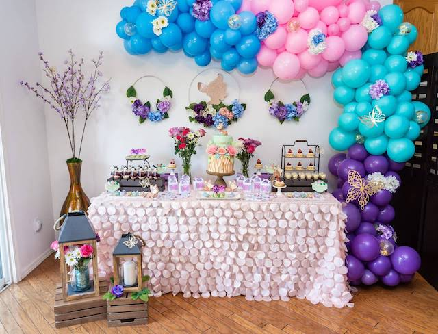 Bambi Garden Dessert Table and Balloon Garland