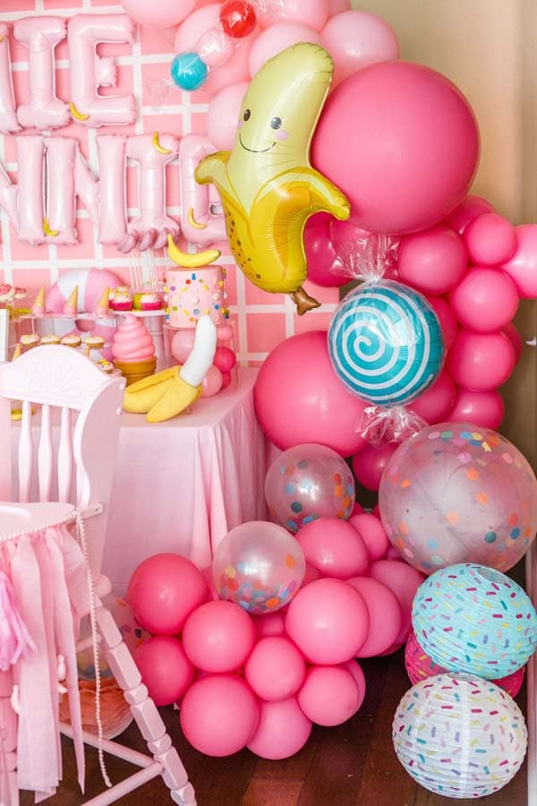 Bananas and Sprinkles Balloon and Party Decor