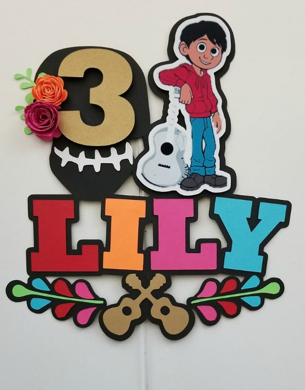 Coco Cake Topper - Coco Birthday Party Ideas