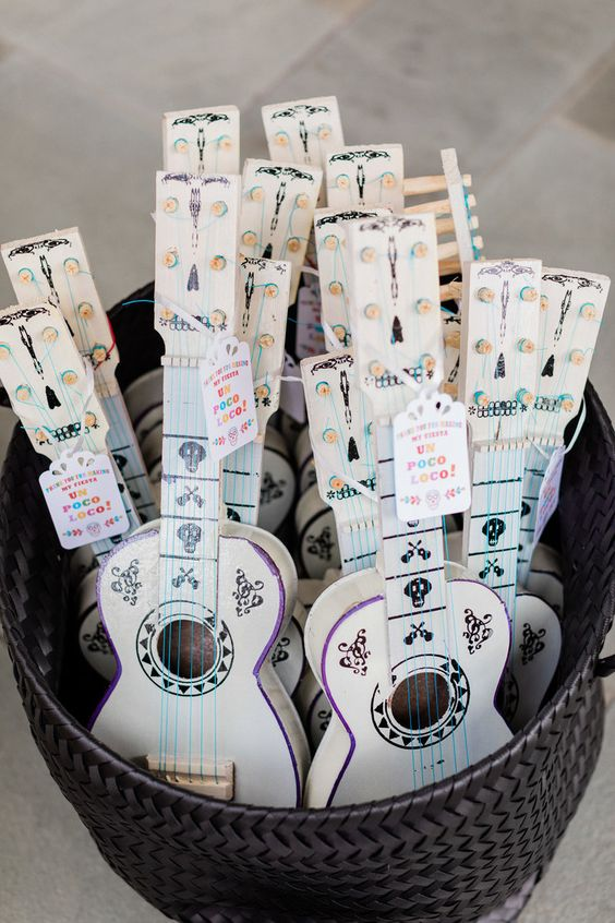 Coco Guitar Party Favors - Disney Coco Party Ideas