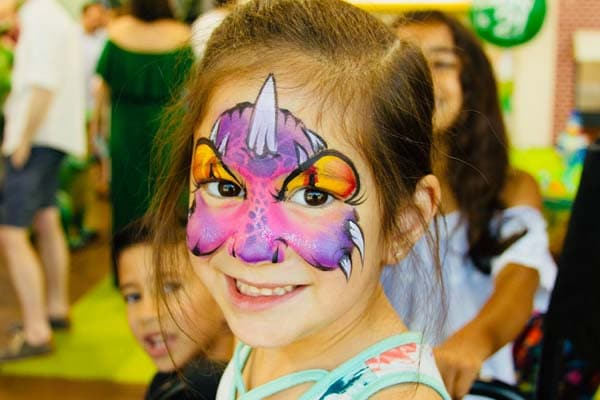 Dinosaur Face Painting Ideas