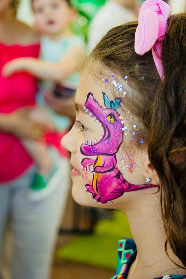 Dinosaur Party Face Painting