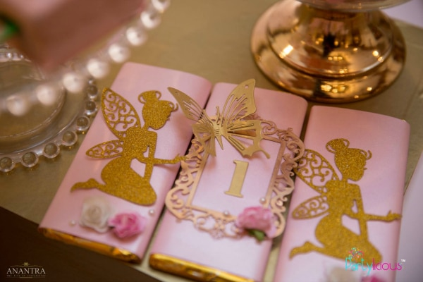 Pink and Gold Fairy Birthday Candy