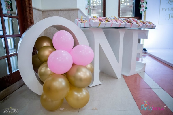 Fairy Party 1st Birthday Favors Table