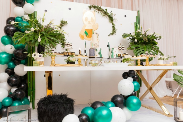 Gold Panda Themed Baby Shower