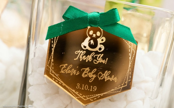 Gold Panda Baby Shower Favor Tags