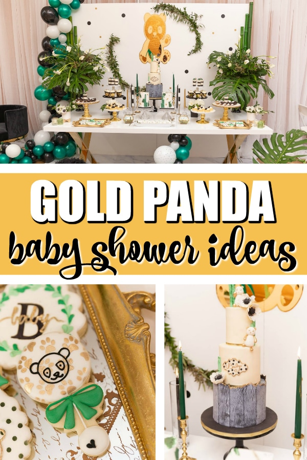 Gold Panda Baby Shower Pretty My Party Party Ideas